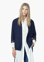 Mango Outlet Pocket Cotton Jacket