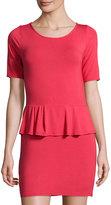 LAmade Jersey Peplum Dress, Pink