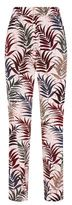 Sandro Emerie Printed Silk Trousers