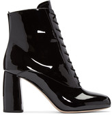 Miu Miu Black Patent Ankle Boots