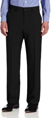 Van Heusen Men's Big and Tall Crosshatch Flat Front Pant