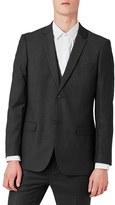 Topman Men's Slim Fit Charcoal Suit Jacket