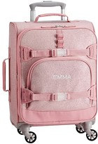 Pottery Barn Kids Mackenzie Pink Sparkle Glitter Luggage