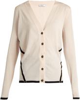 Lanvin Bi-colour wool cardigan
