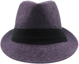 Stables Row Unisex Straw Fedora Trilby Panama Hat Summers Trendy