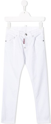 DSQUARED2 Slim-Fit Logo Tag Jeans