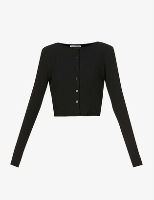 Reformation Ruby stretch-jersey top and cardigan set