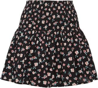 BP Floral Print Smocked Miniskirt