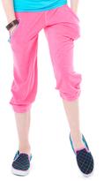 LittleMissMatched Cerise Pink Crop Sweatpants