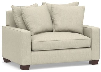 Pottery Barn PB Comfort Square Arm Upholstered Twin Sleeper Sofa with Memory Foam Mattress