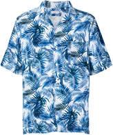 Bagutta tropical print shortsleeved shirt