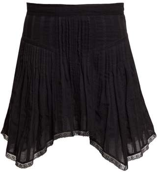 Etoile Isabel Marant Prandali Handkerchief-hem Cotton-voile Mini Skirt - Womens - Black