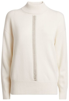 Peserico Chain-Detail Funnel Neck Sweater