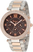 Freelook Women's HA1539RGM-2 Chronograph Dial Rose Gold Swarovski Bezel Watch