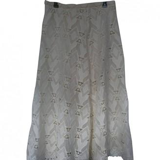Maje White Cotton - elasthane Skirt for Women