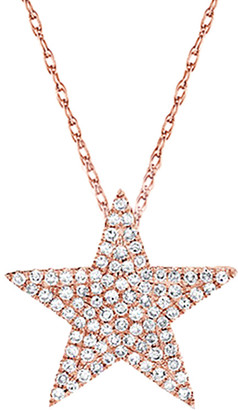 Sabrina Designs 14K Rose Gold 0.31 Ct. Tw. Diamond Star Necklace