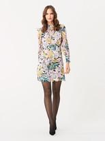 Diane von Furstenberg Elinor Crinkle Chiffon Mini Dress