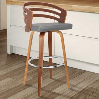 "Wade Logan Hornsea Bar & Counter Swivel Stool Seat Height: Counter Stool (26"" Seat Height), Color: Gray"