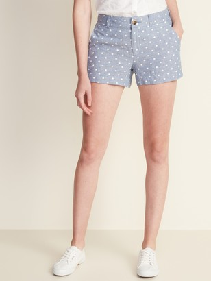 Old Navy Mid-Rise Everyday Linen-Blend Shorts for Women - 3.5-inch inseam