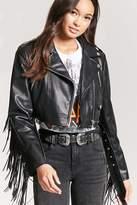 Forever 21 Fringe Faux Leather Jacket