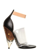 Givenchy 120mm Vinyl And Calfskin Sandals