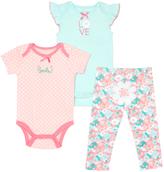 Cutie Pie Baby Mint & Pink Bodysuit Set - Infant