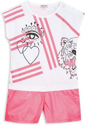 Kenzo Little Girl's Tiger Romper