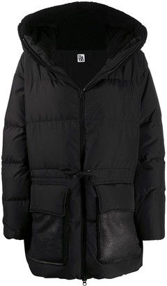 Bacon Drawstring Waist Puffer Jacket