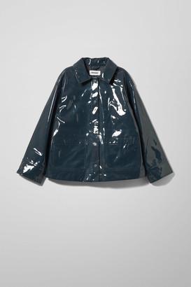 Weekday Electra Patent Jacket - Blue