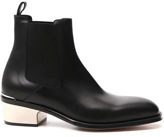 Alexander McQueen Metallic Heel Chelsea Boots