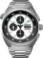 Tockr Watches Men's Air Defender Panda Stainless Steel Chronograph Watch with Bracelet