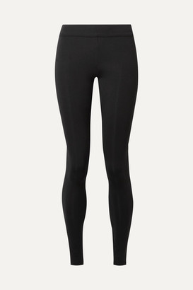 The Row Relma Stretch-scuba Leggings - Black