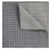 Hugo Boss Pocket sq. cm 33x 33 Wool Patterned Pocket Square One Size Charcoal
