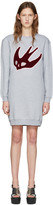 McQ by Alexander McQueen Grey Varsity Swallow Dress