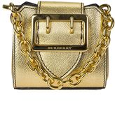 Burberry Gold Micro Tote Leather Bag
