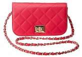 Charlotte Russe Quilted Flap Crossbody Bag