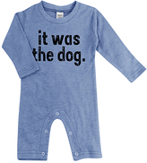 Urban Smalls Heather Blue 'It Was The Dog' Playsuit - Infant