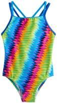 Speedo Girls 7-16 Rainbow One-Piece Swimsuit