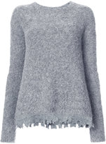 ATM Anthony Thomas Melillo destroyed hem jumper - women - Alpaca - XS