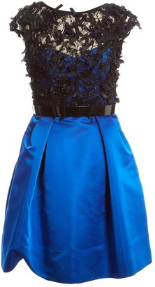 Theia Blue Polyester Dresses