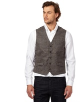 J By Jasper Conran Big And Tall Brown Checked Waistcoat