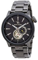 Rip Curl Men's 'Recon Auto Gunmetal SSS' Quartz Stainless Steel Sport Watch, Color:Grey (Model: A2894-DSH)