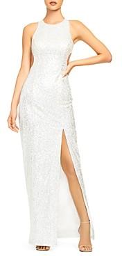 Aidan Mattox Sequin Cutout Gown