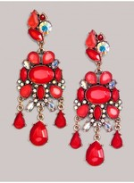 IGIGI Carrie Earrings in Coral Red
