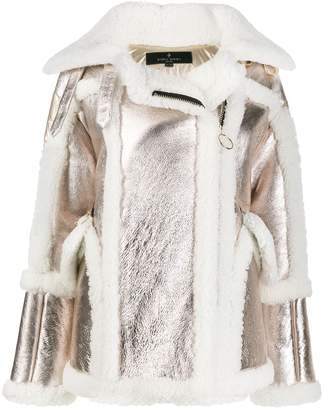 Nicole Benisti metallic shearling coat