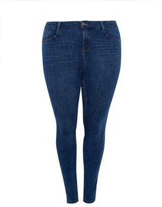 Dorothy Perkins Womens Dp Curve Indigo 4 Way Stretch Shape And Lift Denim Jeans