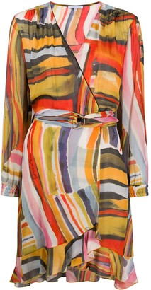 Patrizia Pepe abstract print wrap dress