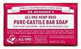 Dr. Bronner's Magic Soaps Organic Castile Bar Soap, Rose, 5 Ounce