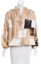 Giambattista Valli Silk Abstract Top