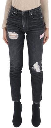 Heron Preston Distressed Straight Leg Jeans